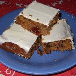 Pumkin-Outmeal-Bars: variation with white chocolate