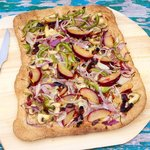Veggie and Plum Flatbread