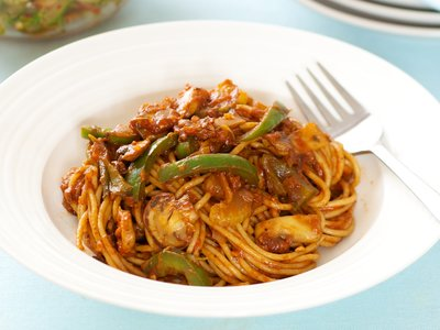 Pasta with Marinara Sauce and Veggies