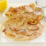 Apple Whole Wheat Crepes