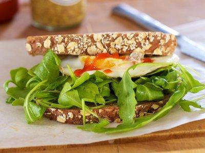 Egg Sandwich with Arugula