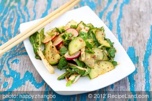 Cucumber, Bok Choy and Radish Salad