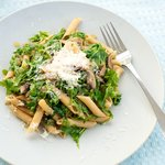 Warm Arugula and Mushroom Penne