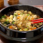 Shiitake and Veggie Stew with Garlic-Black Bean Sacue