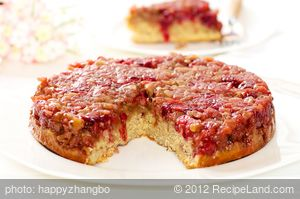 Upside-Down Cranberry-Apple Coffee Cake