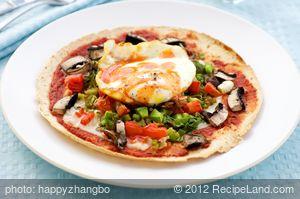 Breakfast Mexican Pizza