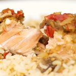 Easy Baked Dilled Salmon on Rice