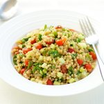 Israeli CousCous and Cucumber Salad