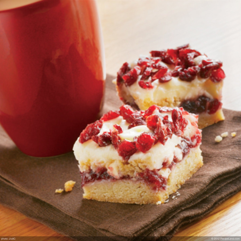 Sameena's Cranberry Bliss Bars