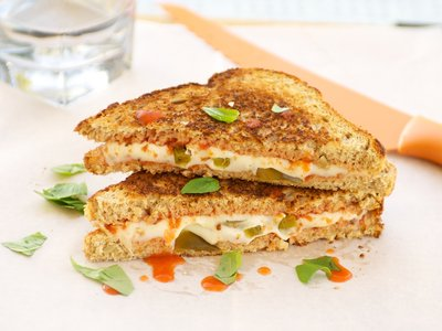 Mexican Pizza Grilled Cheese