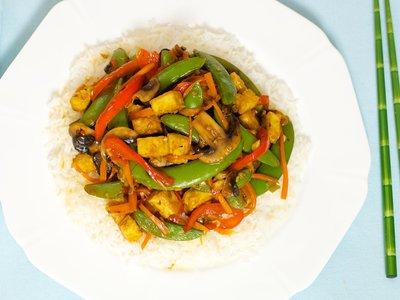 Tofu and Sugar Snap Pea Stir Fry