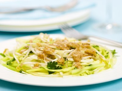 Cabbage Cucumber Salad with Tamarind Dressing
