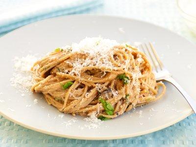 Spaghetti with Tomato Ricotta Sauce