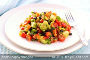 Black Bean, Corn and Bell Pepper Salad