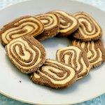 Peanut Butter and Chocolate Pinwheel Cookies