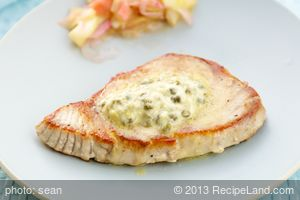 Grilled Tuna Steak with Lemon-Caper Butter