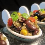 South American Quinoa and Black Beans (amuse bouche)