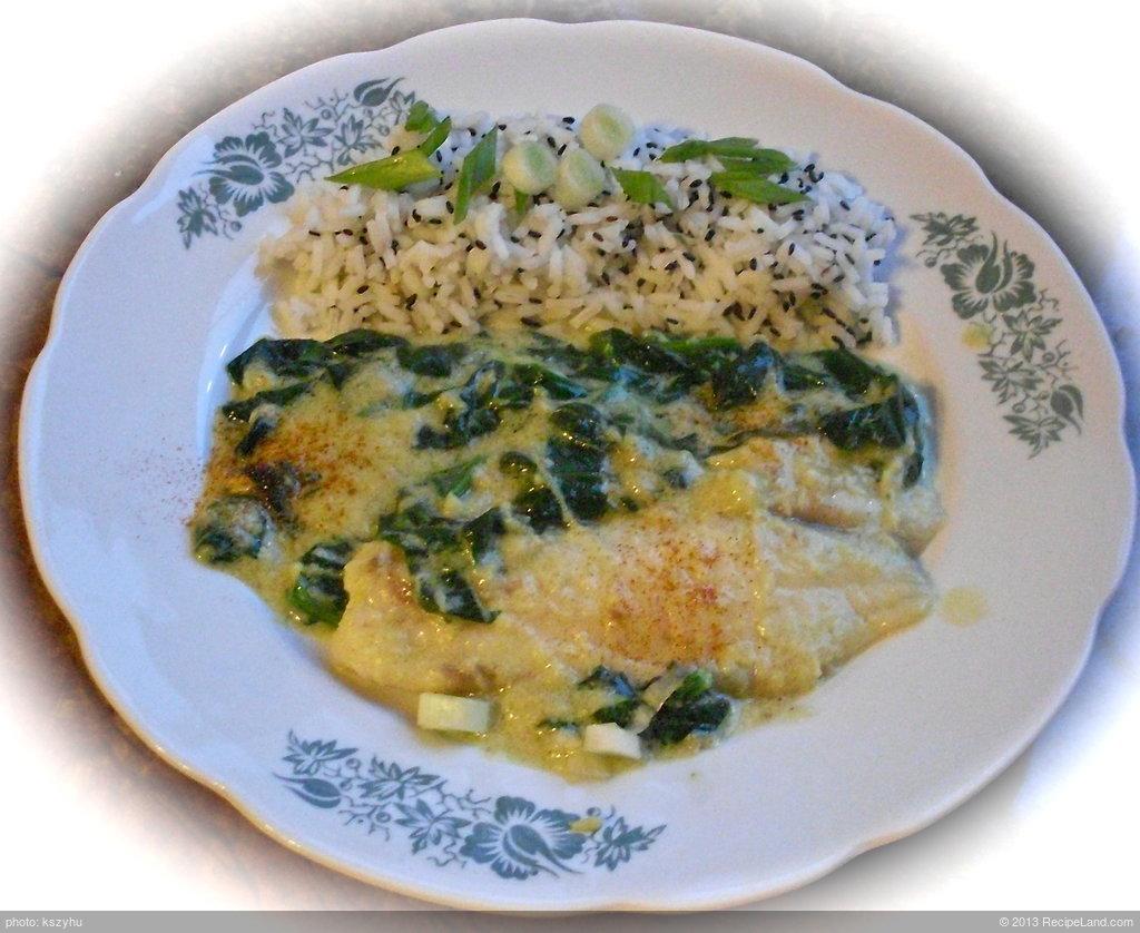 Gulai Daun Singkong Tumbuk(Grilled Fish with Greens)