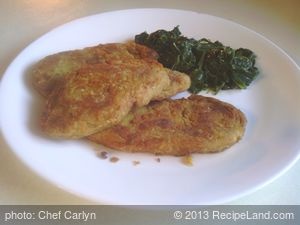 Seitan Chicken Tenders With Wilted Spinach