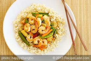 Garlic, Shrimp, and Vegetable Stir-Fry