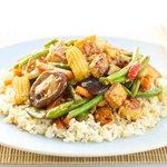 One-Skillet: Spicy Vegetable Stir Fry