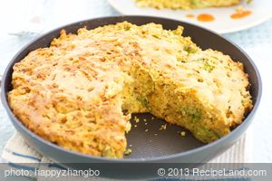 Broccoli, Caramelized Onion, and Cheddar Cornbread