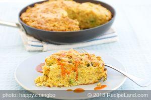 Broccoli, Caramelized Onion, and Cheddar Cornbread