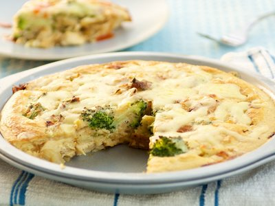 Impossible Chicken 'N Broccoli Pie