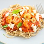 Greek Style Pasta with Shrimp and Feta