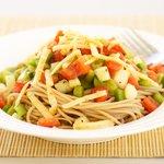 Cheddar Spaghetti Vegetable Salad
