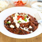 Hot Black Bean Chili with Goat Cheese