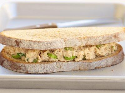 Alaska Salmon Salad Sandwich