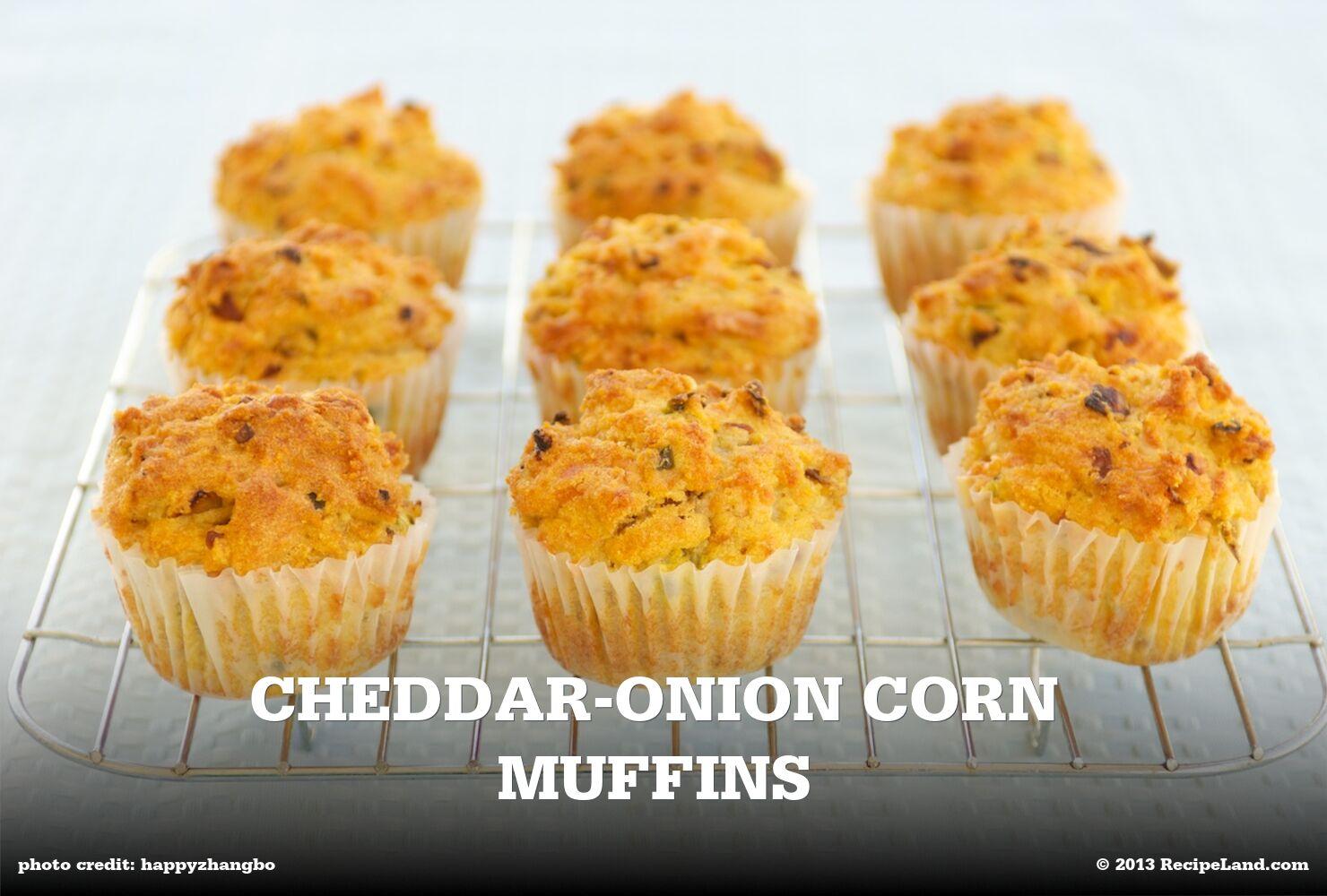 Cheddar-Onion Corn Muffins