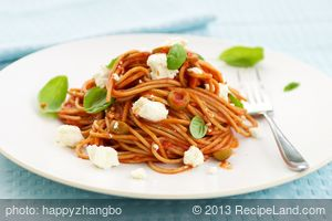 Tomato, Basil and Feta Pasta