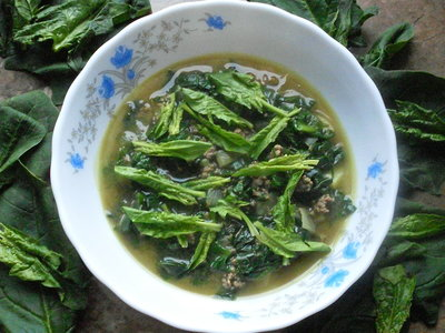 Rich Spinach Soup (Korean Ginchang Sigumchi Kuk)