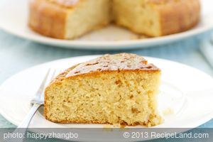 Key Lime Cake with Lime Syrup
