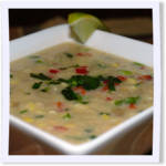 Fresh Corn and Red Pepper Bisque