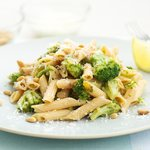 Broccoli Pasta with Lemony-Garlicky Dressing