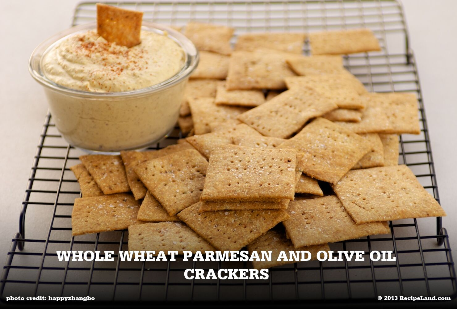Whole Wheat Parmesan and Olive Oil Crackers