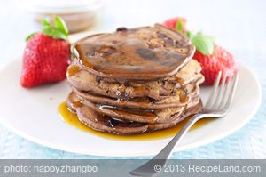 Double Chocolate and Walnut Pancakes
