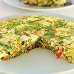 Brussel Sprouts and Green Bean Frittata