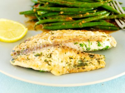 Pan Seared Tilapia with Lemony Green Beans