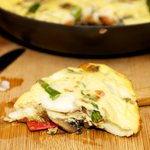 Asparagus, Mushroom and Bell Pepper Frittata