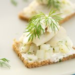 Herring Canapés with Horseradish Cream