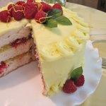 Lemon-Raspberry Easter Cake