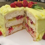 Lemon-Raspberry Easter Cake