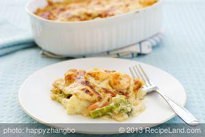 Broccoli Shrimp Lasagna