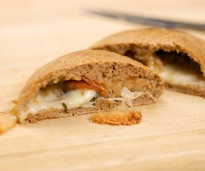 Basil, Cherry Tomato and Mozzarella Stuffed Bread