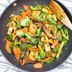 Sichuan Broccoli, Tofu, and Carrot Stir-Fry