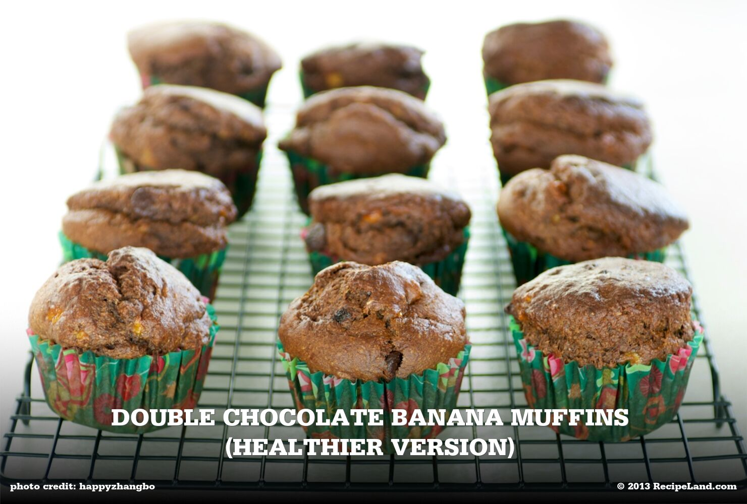 Double Chocolate Banana Muffins (Healthier Version)